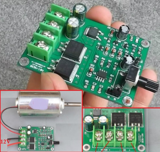 DC 5-15V 18A motor speed controller PWM