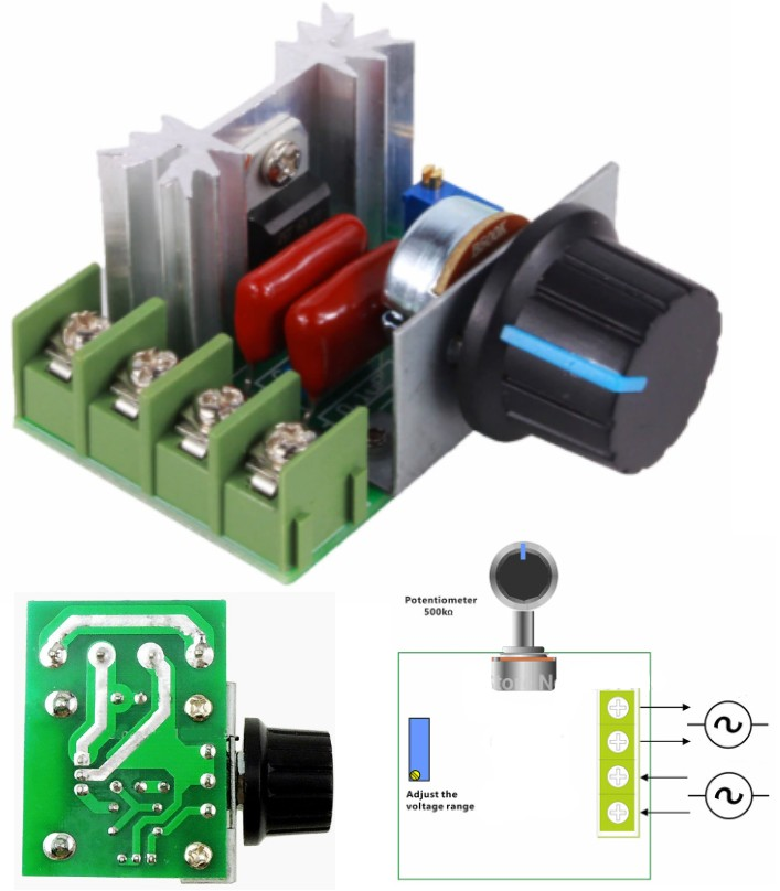 AC 220V SCR adjustable Voltage Regulator Module