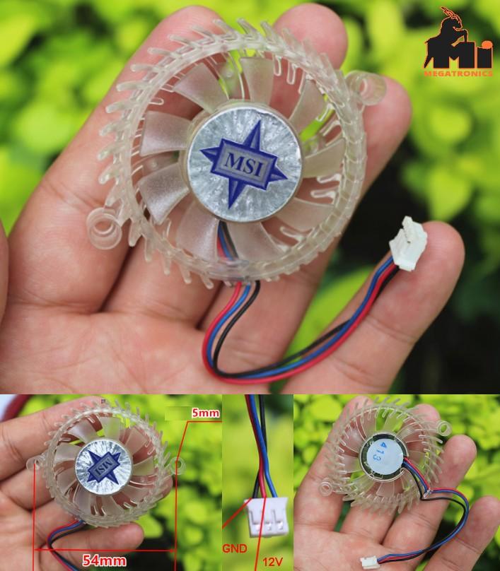 MSI brushless small fan graphics card fan transpar