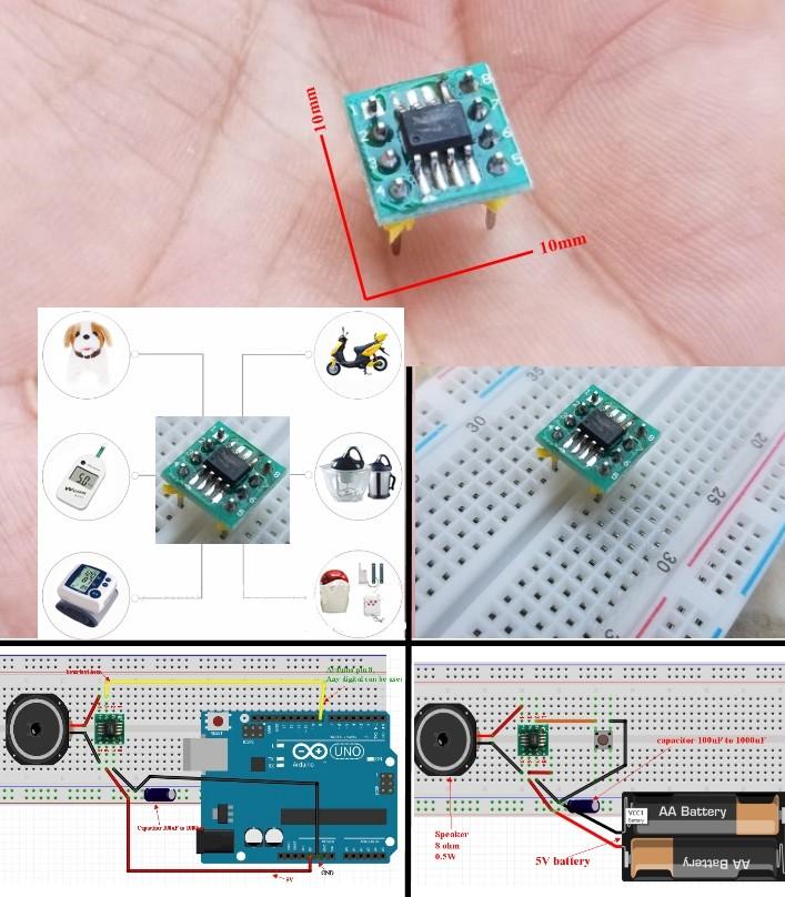 MSM1 38 Sound voice music tune module Built In aud