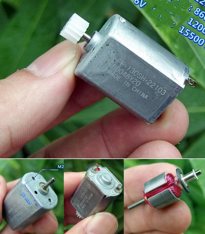 130SH 3-6V DC brush motor pinion plastic gear