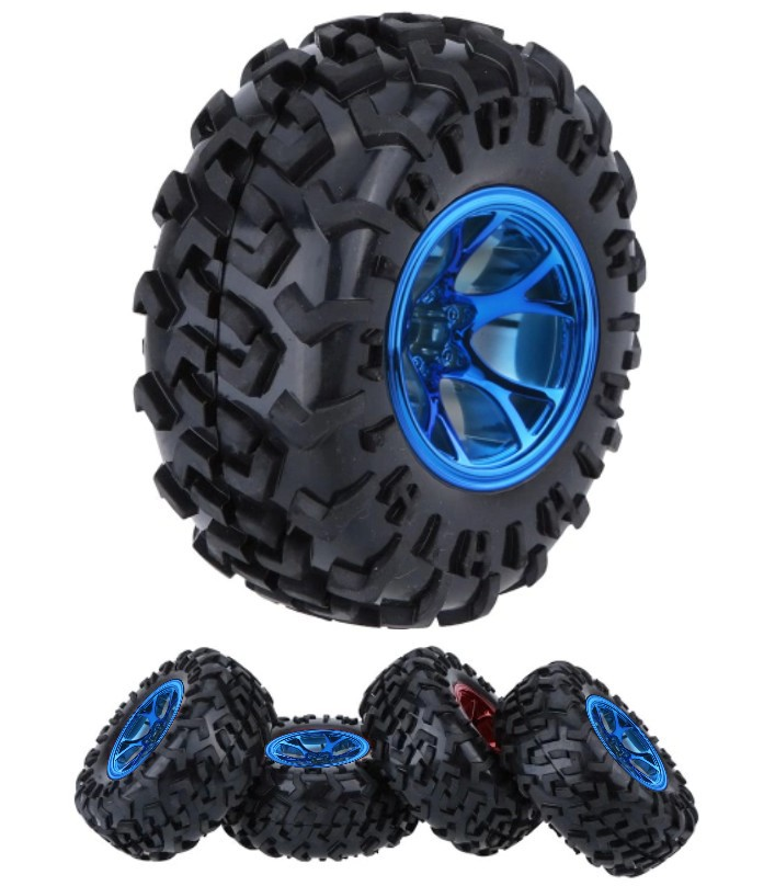 Blue 1/10 Monster Truck Tire Tyre wheel Traxxas HS