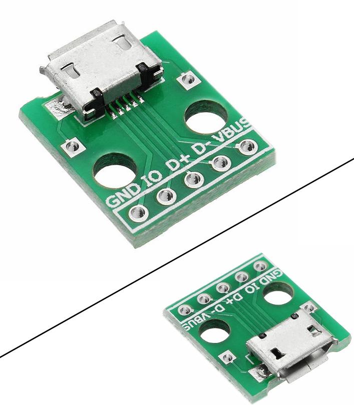 Micro USB-Dip Female Socket B Type Adapter Board