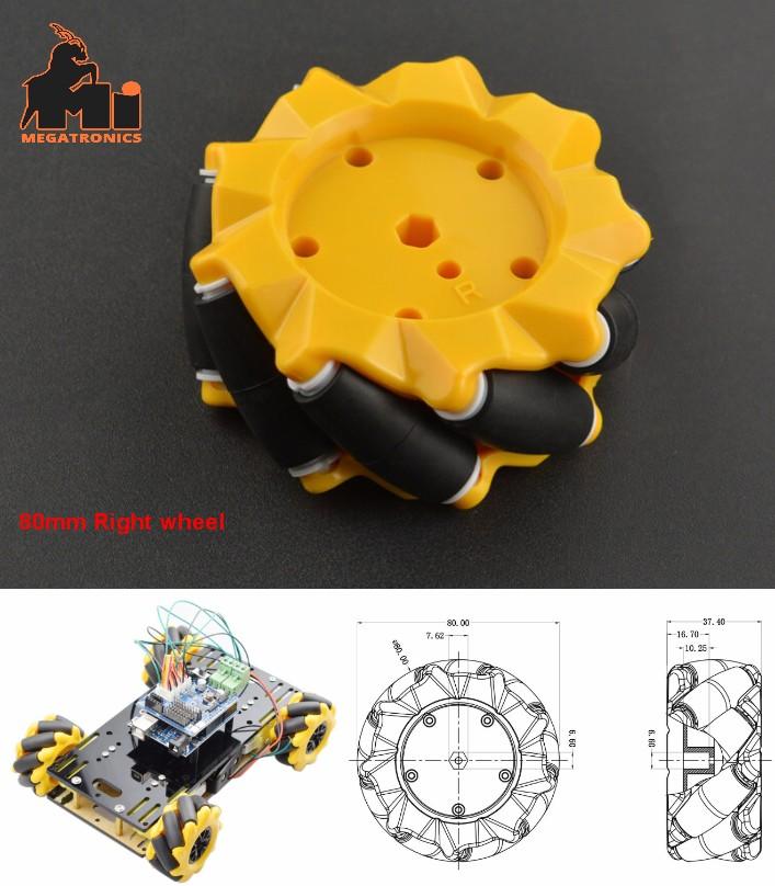 80mm Right Mecanum Omni-directional Wheel ROBOT Sm