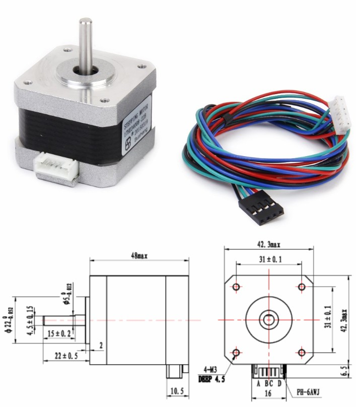 NEMA 17 17HD34008-22B stepper motor 3D printer CNC