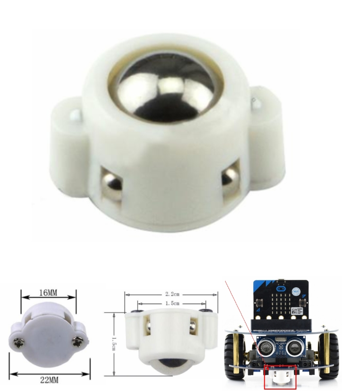 MINI 3PI car N20 Ball Caster free Wheel Robot