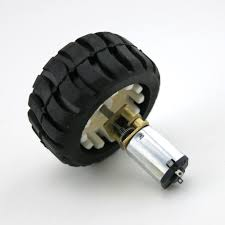 N20 Micro Gear Motor + Rubber wheels For Robot Sma