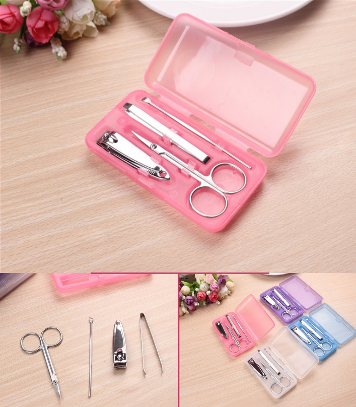 W5104 Stainless Steel Nail Tool Set Plastic Box Na