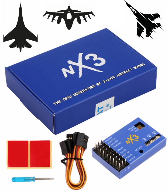 NX3 3-AXIS AIRCRAFT flight controller GYROS Fixed