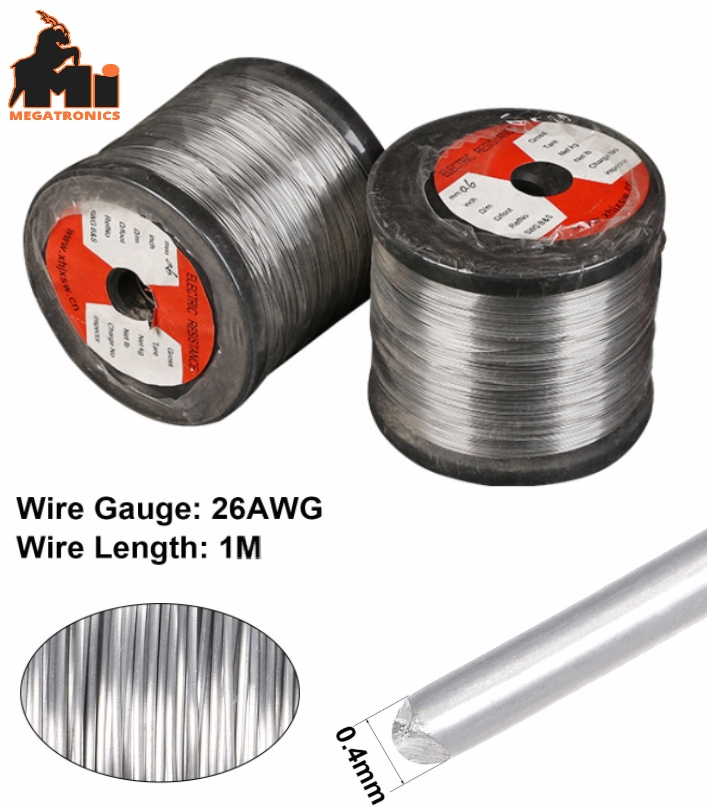 1M nickel-chromium heating wire 0.4mm high tempera