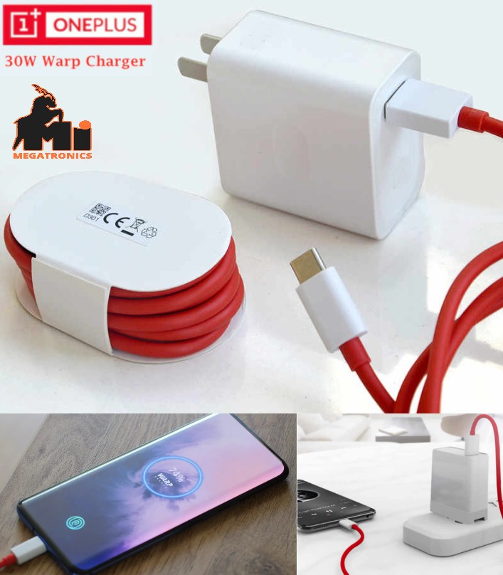 AC 30W OnePlus 7 8 pro Warp Charger 6A 30W Quick R