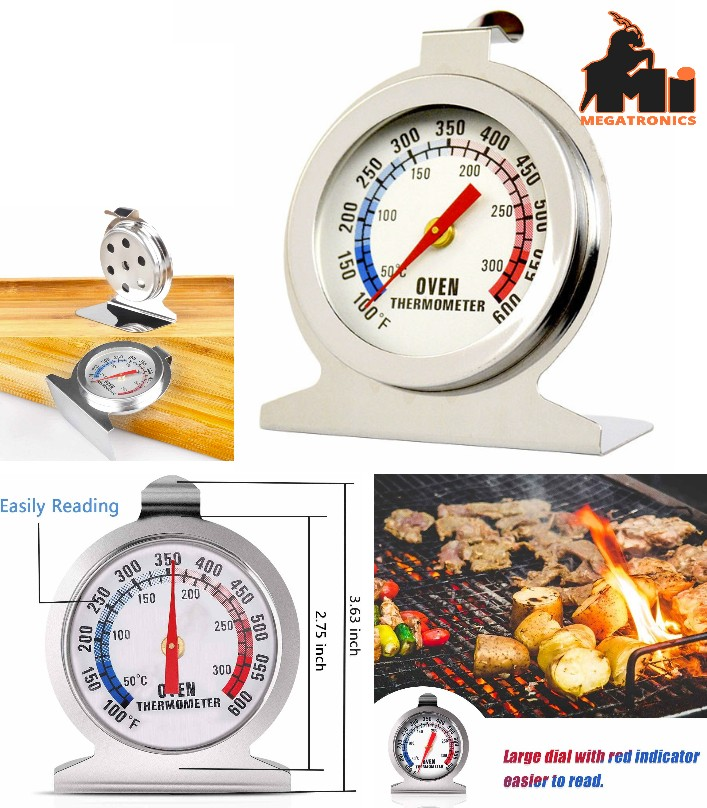 Oven Thermometer 50-300C 100-600F Instant Read Sta