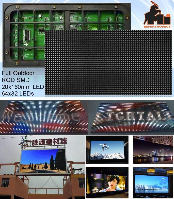 64x32 Matrix LED  RGB P5 LED display Outdoor digit