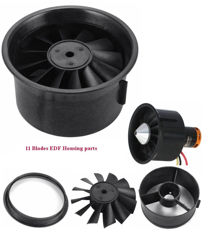 64mm EDF housing parts 11 blades Shell