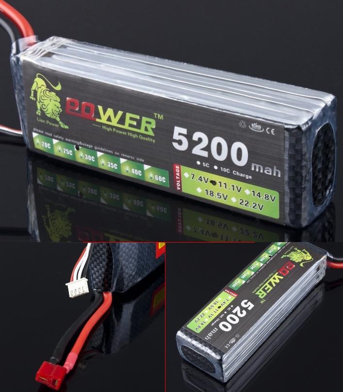 Lipo battery 5200mAh 11.1V 30C 3S Li-po 3 cell DJI