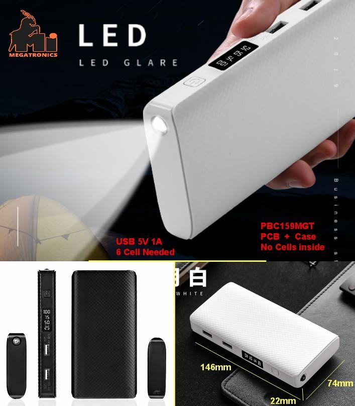 DIY PBC159 Power bank housing PCB torch LED high