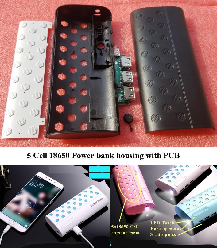 DIY PBC2 Power bank housing with PCB LED