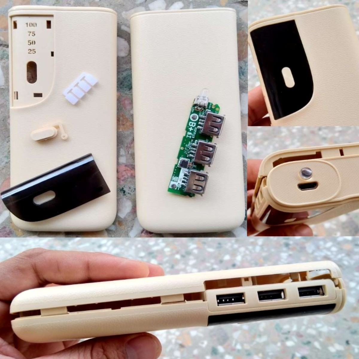 DIY PBC6 Power bank housing PCB LED torch