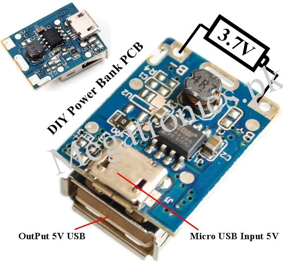 134N3P 5V Step-Up and Charging Protection Board DI