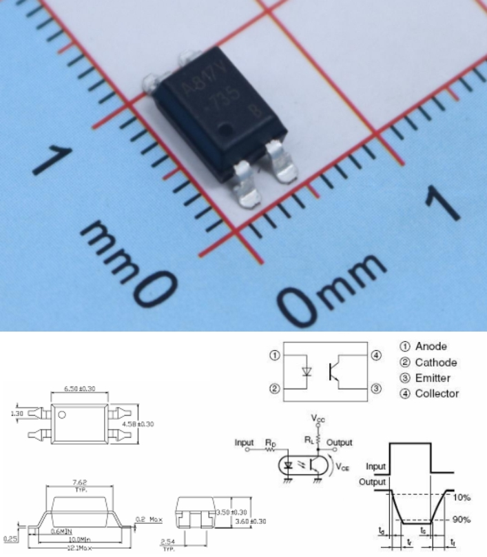 PC817 SOP-4 EL817C SMD Optocoupler Photocoupler