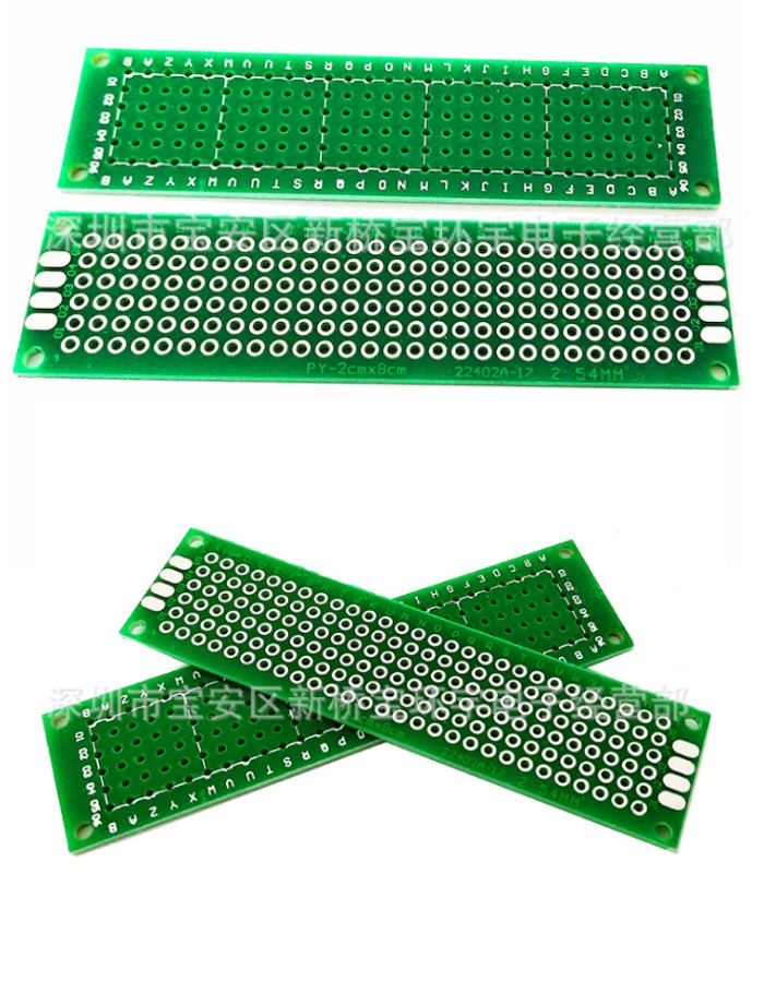 2x8 FR4 PCB Prototype Circuit board single Side