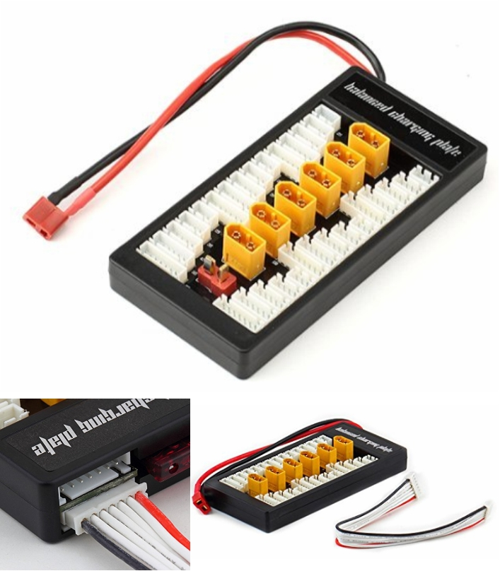 XT60 Parallel Balanced Charging Board 2-6S Lipo Pl