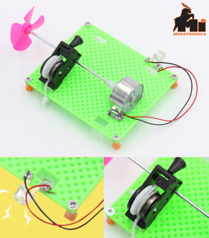pull Electric generator experiment science Kit STEM DIY toy