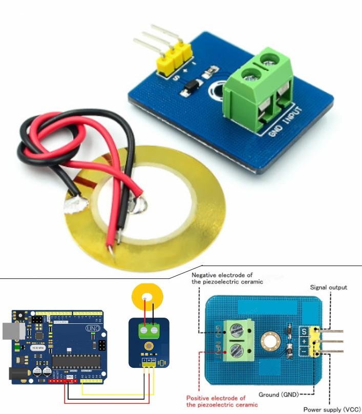 Analog Piezoelectricity Ceramic Piezo Vibration Sensor