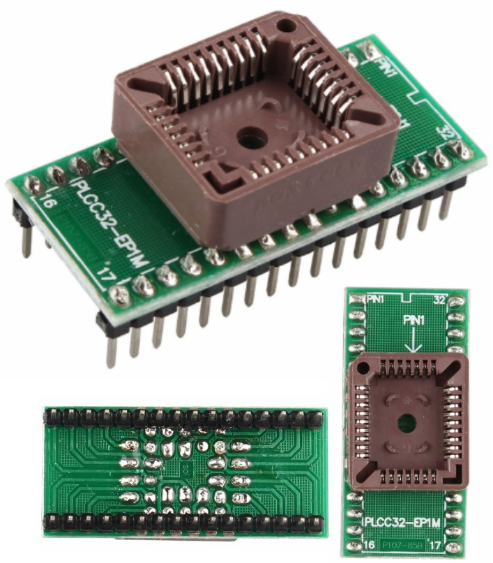 PLCC32 to DIP32 Programmer Socket Seat Adapter Mod