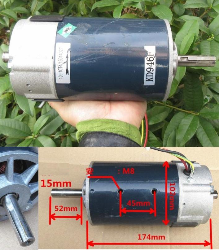 High Torque Permanent Magnet DC Motor 120V-180V 60