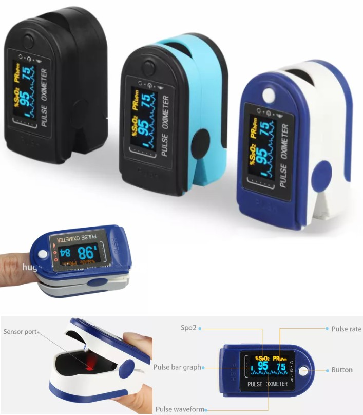 Portable finger Pulse Oximeter OLED display FDA Ap