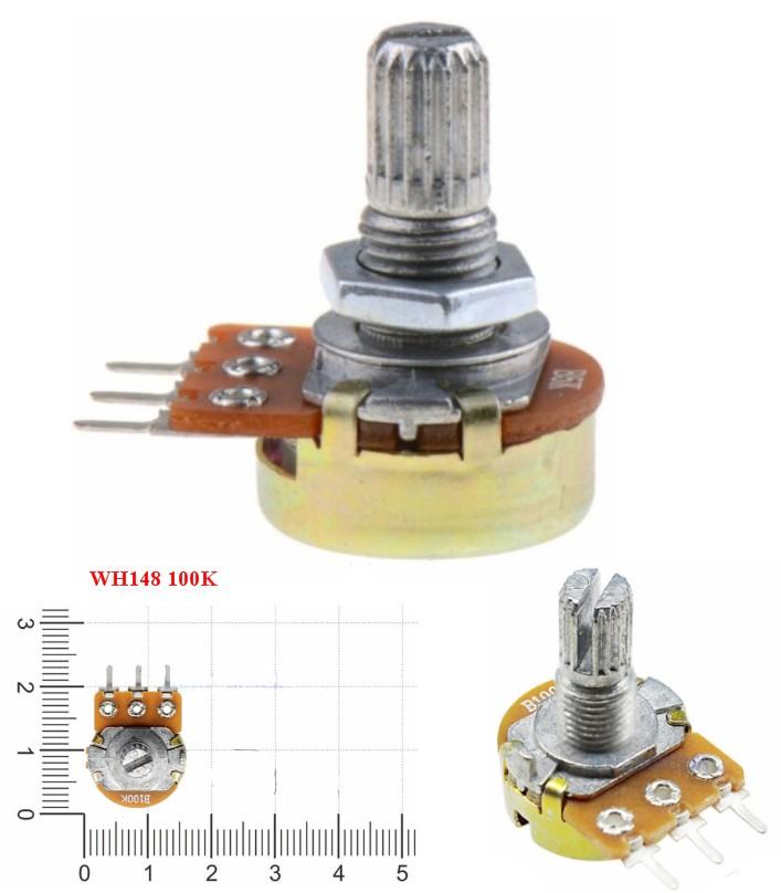 WH148 100K potentiometer variable resistor knob
