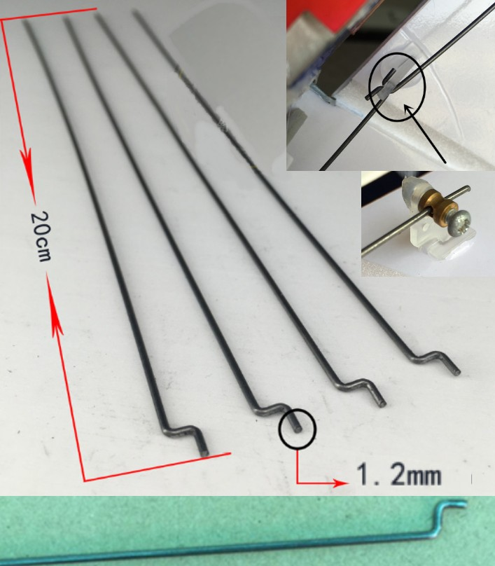 steel push rod rudder angle 1.2mm push pull rod