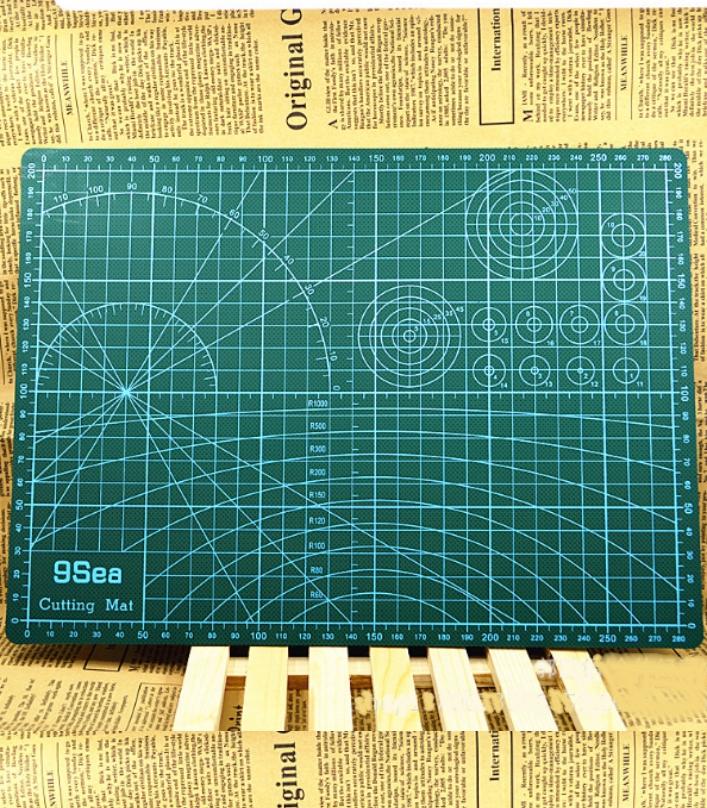 DIY A4 Cutting Mat Rubber Stamp Sculpture assistan