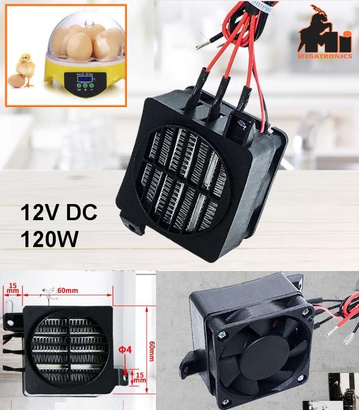 12V 120W fan PTC heating Element air heater incuba