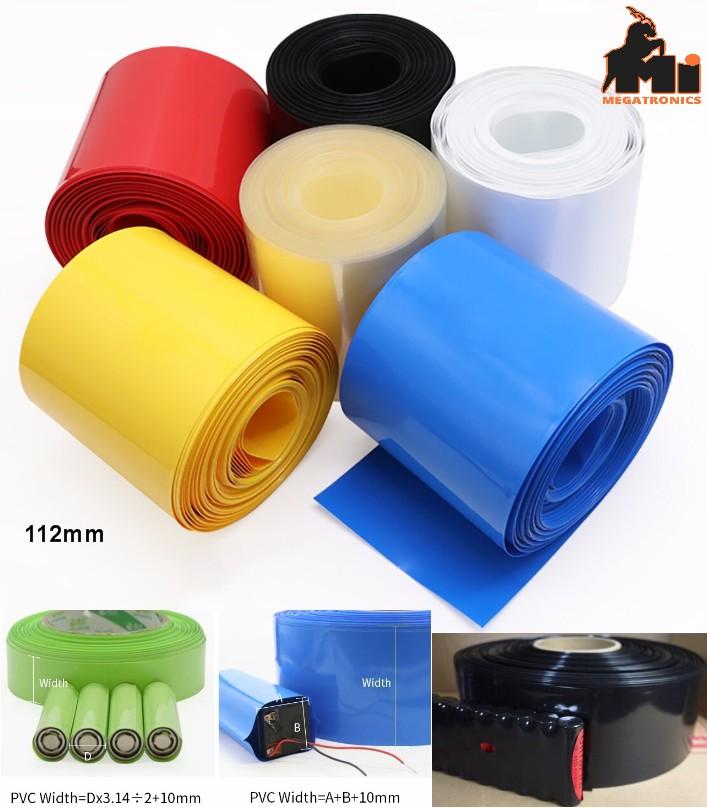 112mm 1meter PVC heat shrinkable tube LiPO NiMH NiCd  heat shrink wrapping black