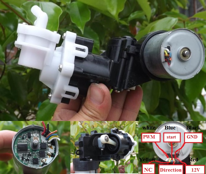 High pressure water pump 12V piston Used