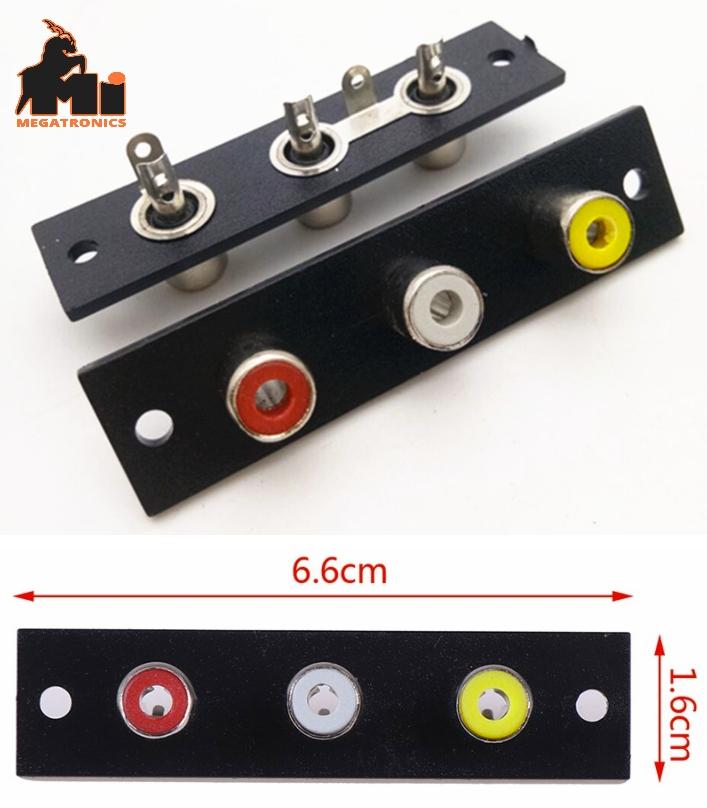 RCA3 AV3 Female Triple Lotus Socket Audio Video So