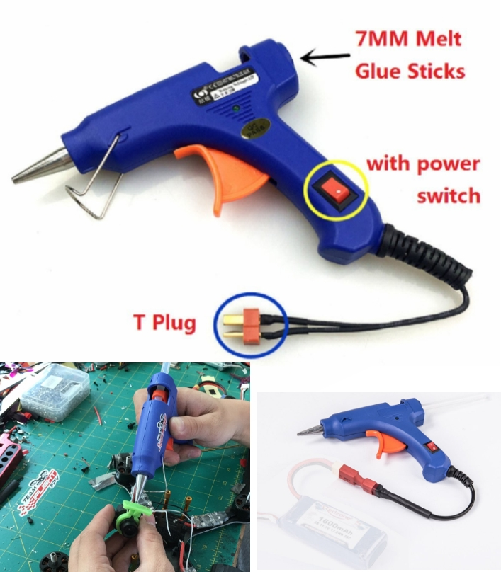 outfield 12V RC glue gun t plug lipo battery hot m