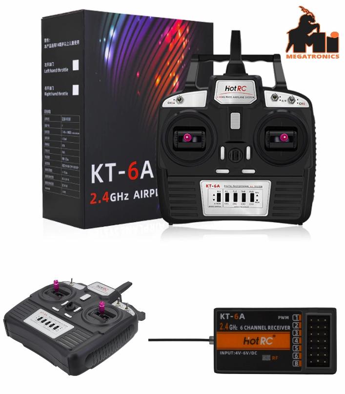 Hotrc KT-6A 2.4G 6CH RC Transmitter Receiver radio