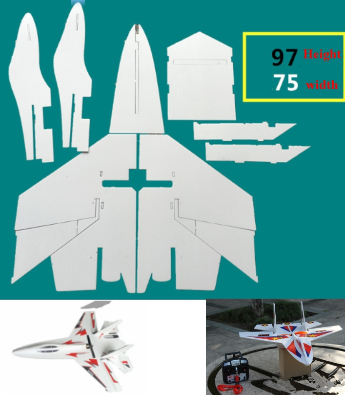 Big Su-27 RC Airplane Aircraft DIY laser cut