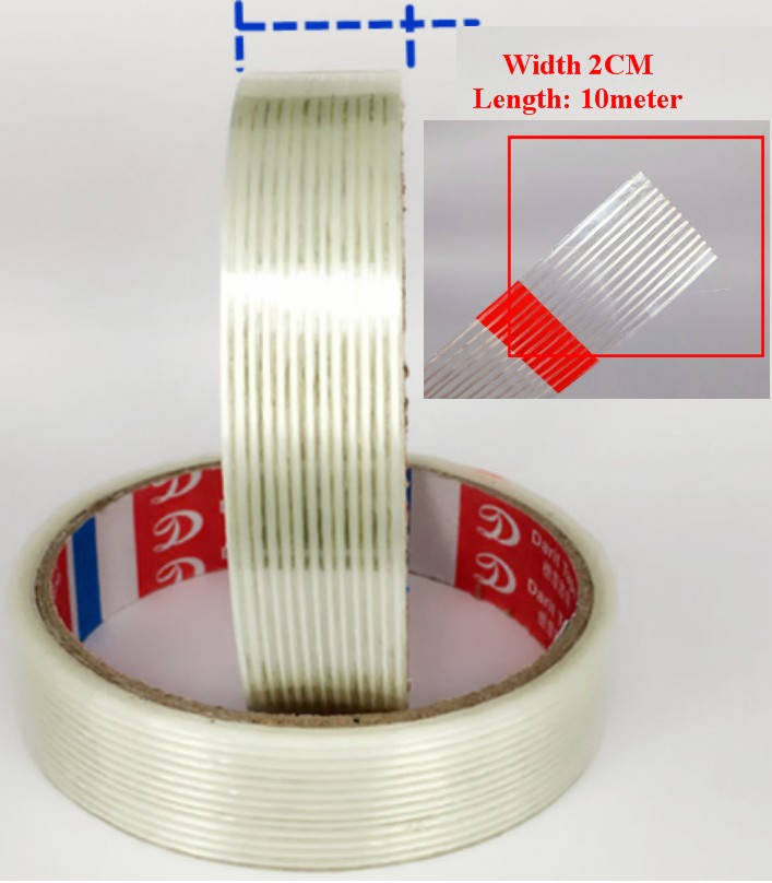 2cm Strong Fiber Strips Adhesive Tape For RC Model