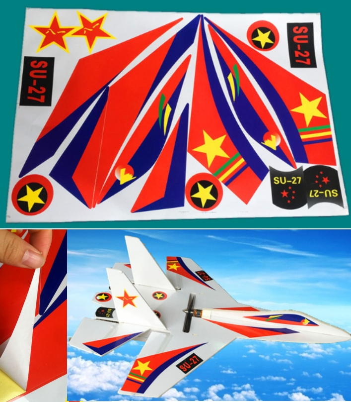 SU27 vinyl KT board art sticker decals