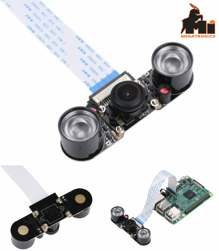 Raspberry Pi 4/3 Model B Fisheyes IR Camera Night Vision 160 Degree 5MP Wide Ang