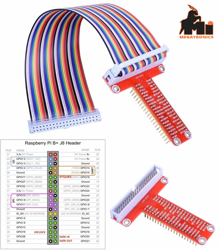 GPIO Expension Board Cable for Raspberry Pi T-Cobb
