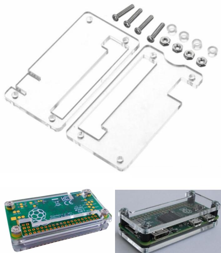 Raspberry Pi Zero Acrylic box Case Shell Enclosure