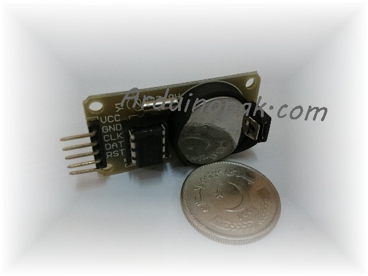 RTC Clock Module DS1302 with Battery cell