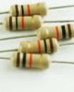 1/4W  5% 1k ohm resistor 1 kilo ohm
