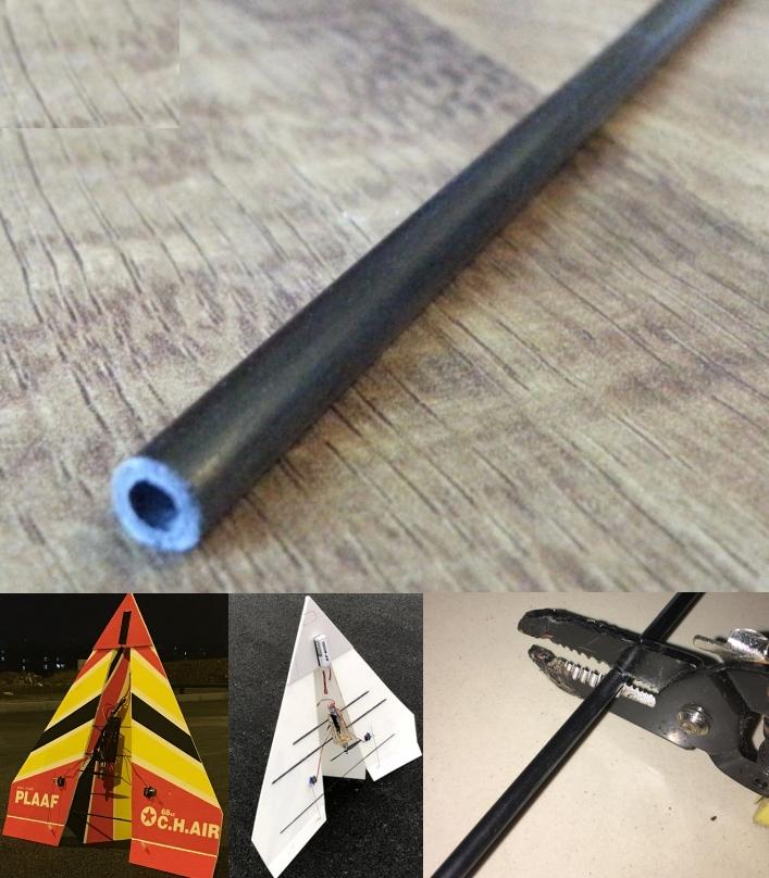 Carbon Fiber Rod 5mm OD 3mm ID 1M RC Kossel Delta
