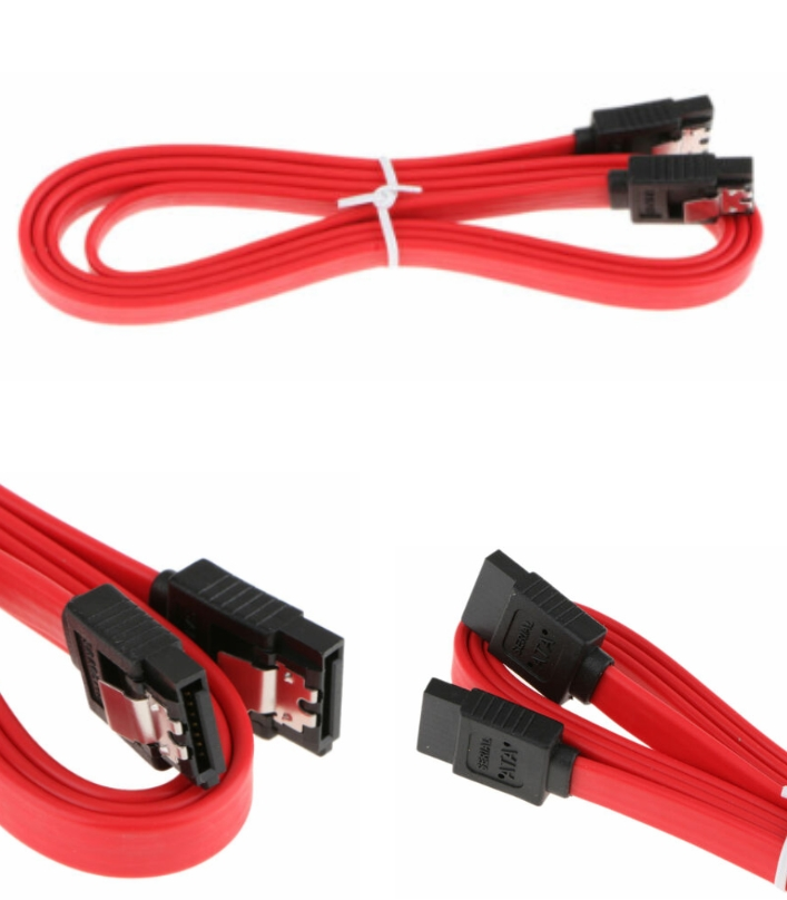 Red 40cm Straight SATA Cable Data Lead Locking